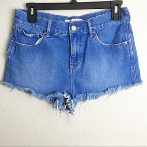 Bullhead High Rise Distressed Cut Off Shorts